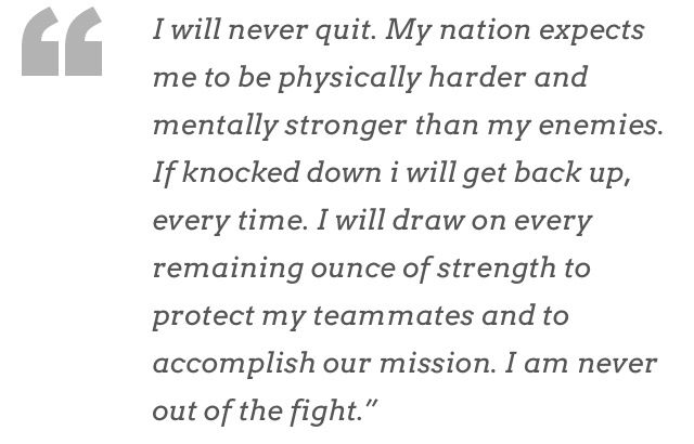 A quote from Marcus Luttrell author of Lone Survivor. God bless America!!