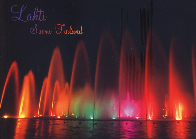 Water Organ in Lahti, you can explore the beauty of combination of music, water and lights. Watch the video: http://www.youtube.com/watch?v=p05WHwZCoig