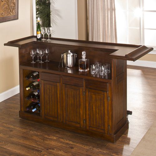 Hillsdale Furniture Classic Bar with Wine Storage