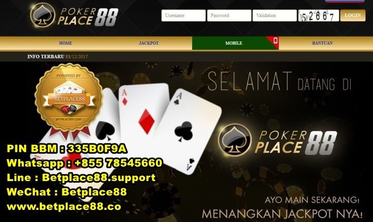 Situs Domino QQ terbaik yakni Pokerplace88 dapat menjadi pilihan untuk anda, jika ingin bermain judi domino qq secara online di Indonesia. Situs yang selain menyediakan versi dekstop (komputer), ju…