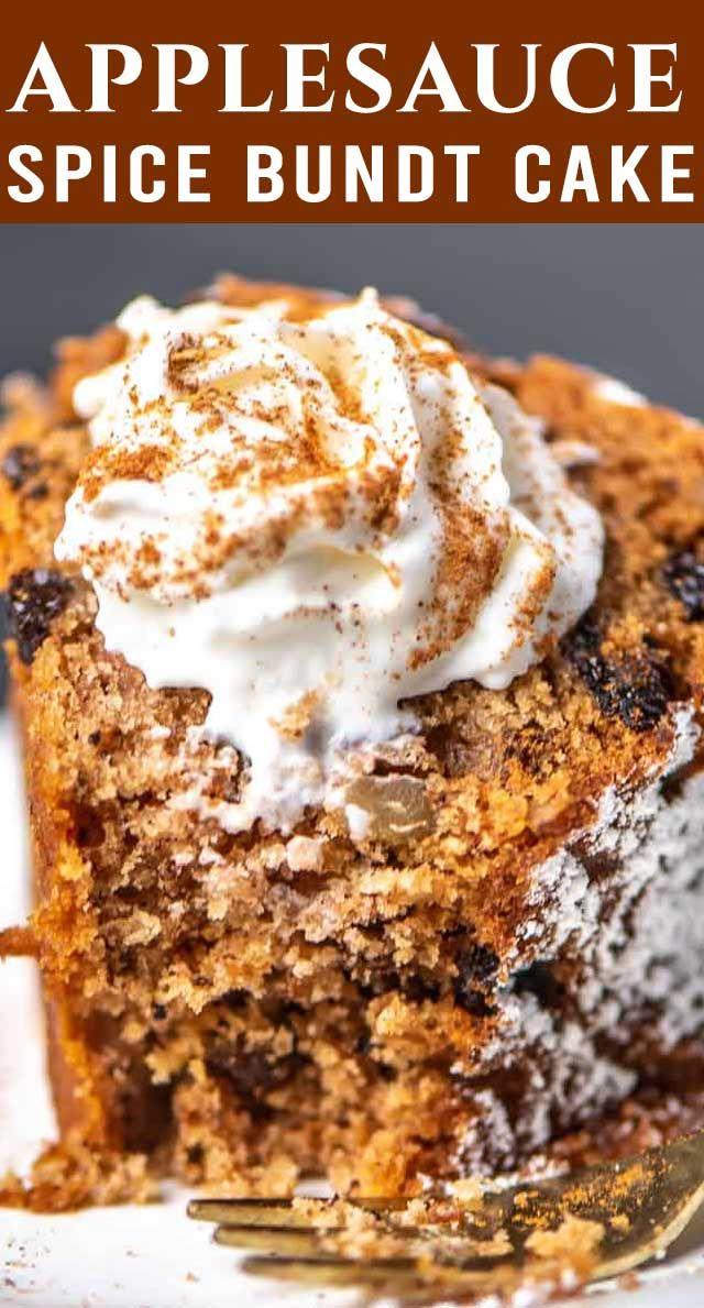 Applesauce Spice Bundt Cake In 2020 Spice Cake Recipes Best Cake Recipes Dessert Recipes Easy