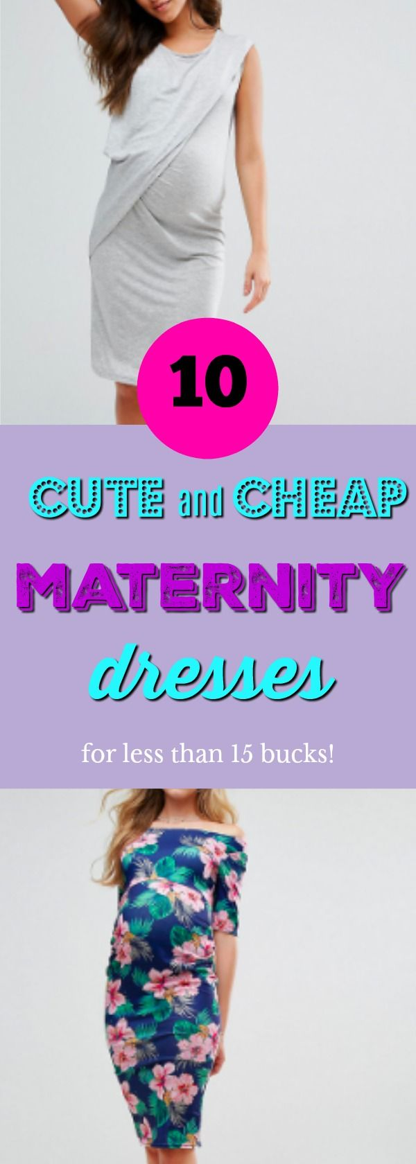 Maternity clothing doesn't have to be expensive! Check out these super stylish and affordable maternity dresses #maternity #dresses #maternityclothing