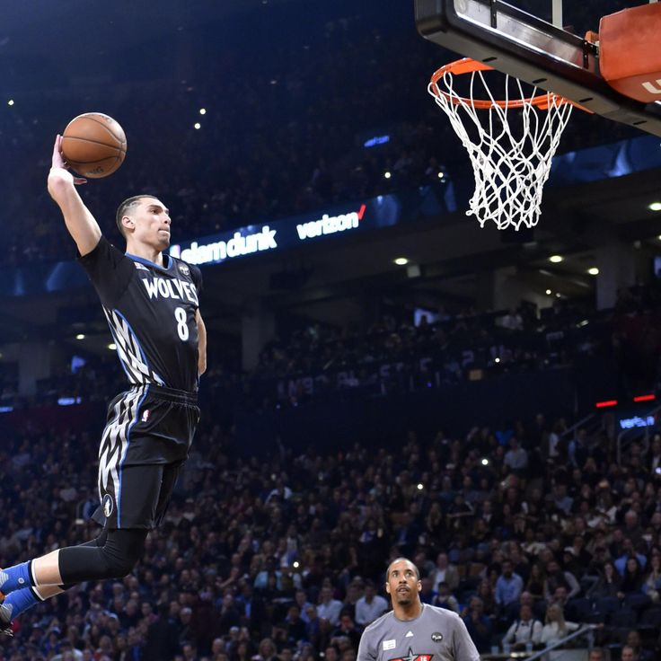 Minnesota Timberwolves point guard Zach LaVine became the fourth player in  NBA  history to repeat as champion of the Slam Dunk Contest thanks to a staggering display of athleticism ...