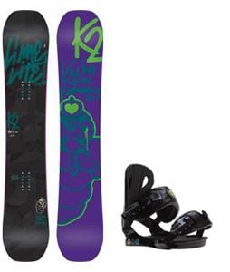 On Sale K2 Lime Lite Snowboard w/ Roxy Classic Bindings - Womens up to 50% off. FREE shipping over $50. board-binding-package-3249
