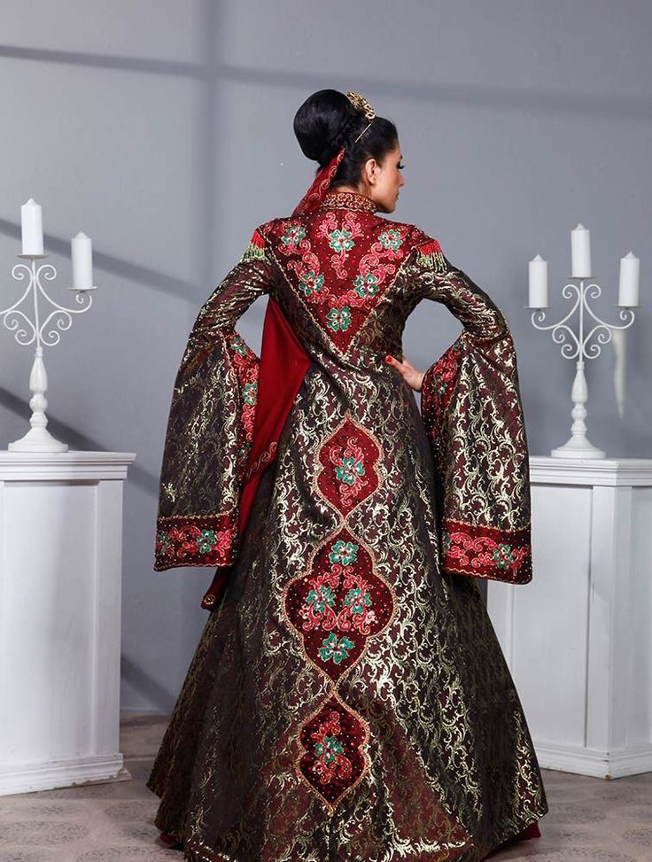 Apoletli Kaftan Bindallı Kına Elbisesi Sevde