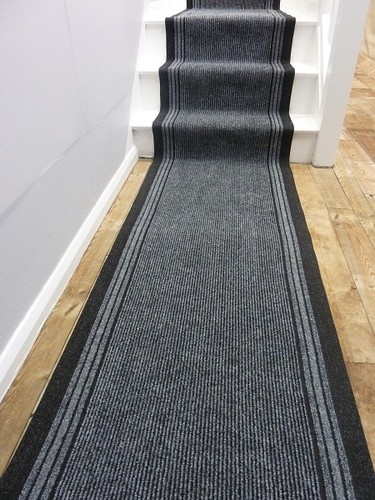 inca grey 66cm wide any length long hall hallway stair carpet runner rug