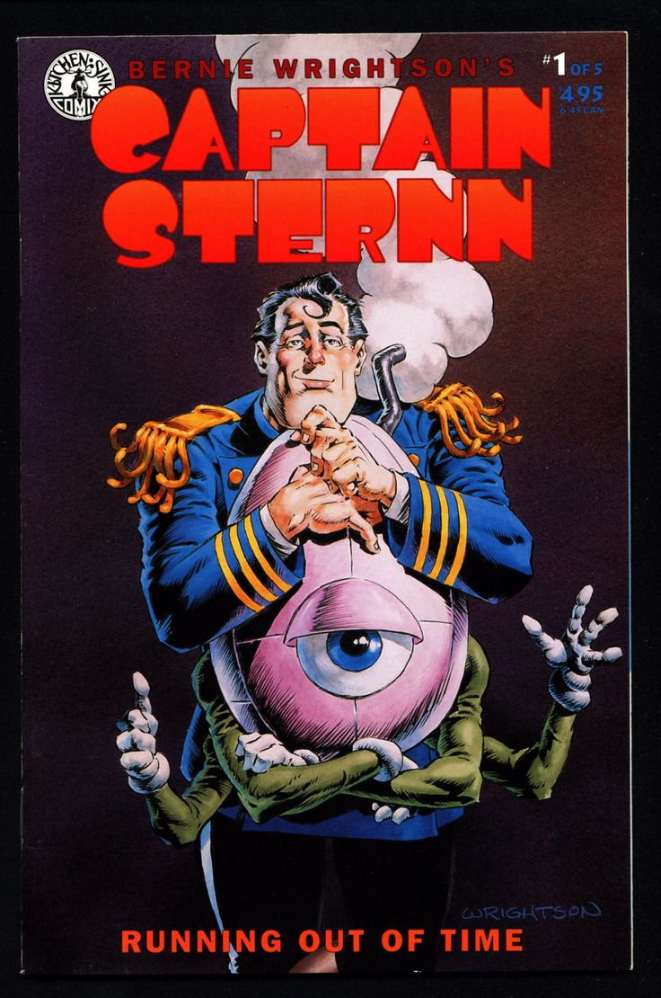 CAPTAIN STERNN #1 Hero of the Heavy Metal Movie Berni Wrightson Science Fiction Fantasy Comic Book Action