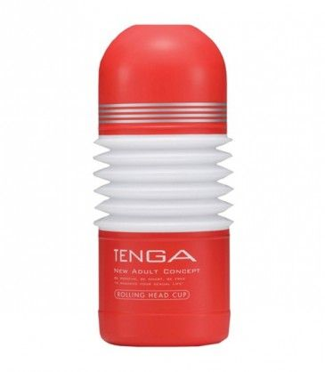 Rolling Head Cup Masturbator - Tenga. Indulge in 360 degree sensations of pleasure with this flexible mind blowing male masturbator. R299.00