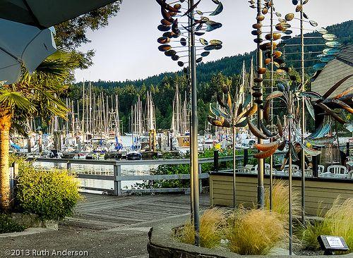 Wind Sculptures in Grace Point Square, Ganges, Salt Spring Island, B.C.