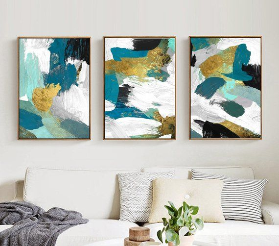 3 Piece Emerald Theme Abstract Canvas Wall Art Multiple Gift Canvas Print Art Framed Print Ready To Abstract Canvas Wall Art 3 Piece Canvas Art Abstract Canvas