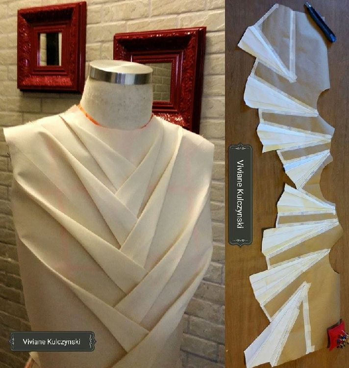 "Origami Petal bodice by ""Viviane"" at -ORIGAMI MASTER-Online Class 2016"