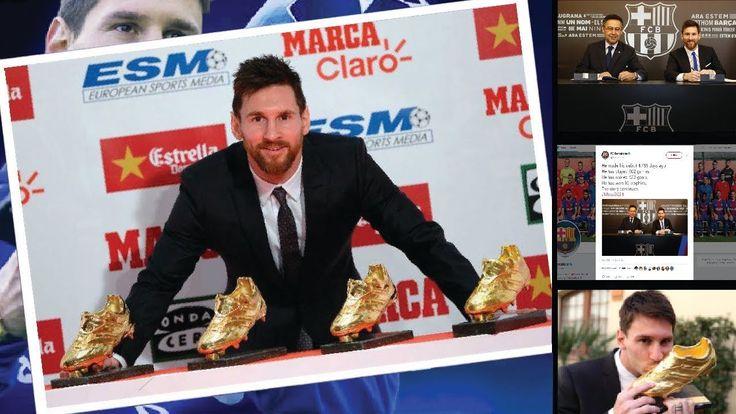 Setelah Meraih Trofi Golden Shoe Messi Perpanjang Kontrak Hingga 2021!