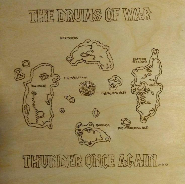 Map of Azeroth #worldofwarcraft #blizzard #Hearthstone #wow #Warcraft #BlizzardCS #gaming