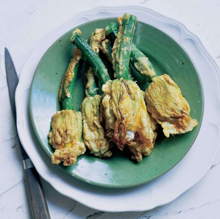 Stuffed courgette flowers by Antonio Carluccio from The Collection | Cooked