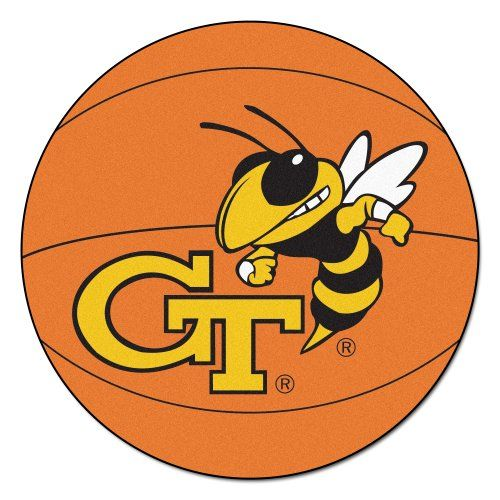 Fanmats Georgia Tech Yellow Jackets Nylon Rug  http://allstarsportsfan.com/product/fanmats-georgia-tech-yellow-jackets-nylon-rug/?attribute_pa_style=basketball-mat  9 Ounce, 100 % Nylon Face Recycled vinyl backing for a durable and longer-lasting product Machine made and tufted in the USA