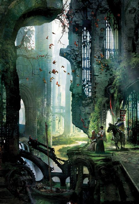 In the ruins: