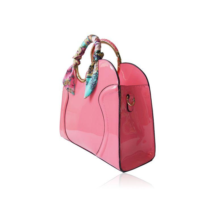 Růžová kabelka do ruky LYDC. Možnost z ní udělat popruhem i kabelku přes rameno :) Cena: 1189,--