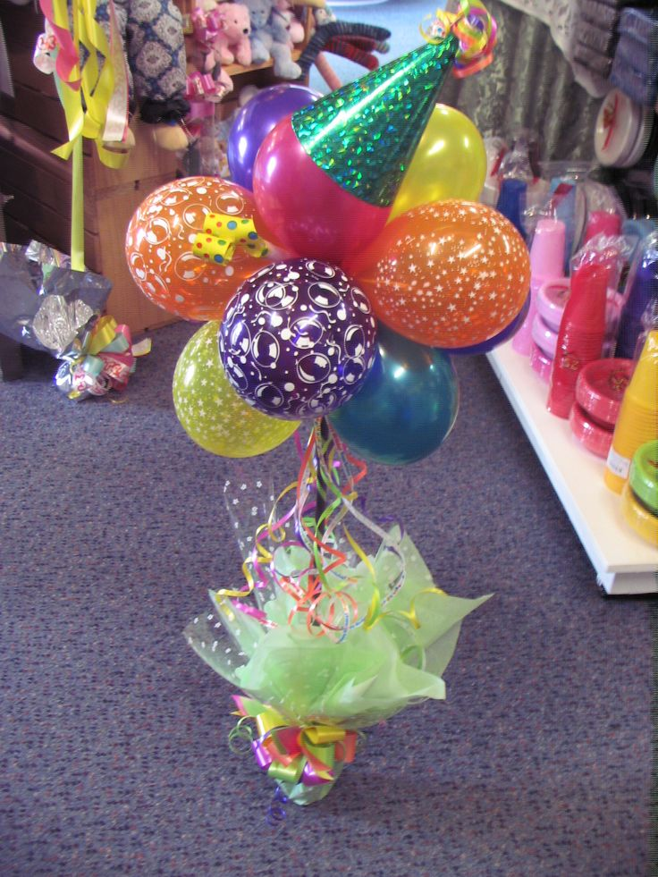 Fun party topiary every for Balloon arrangement ideas