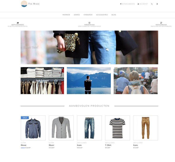 THE RIVER theme by SEOshop | ecommerce design | webstore | online shop |