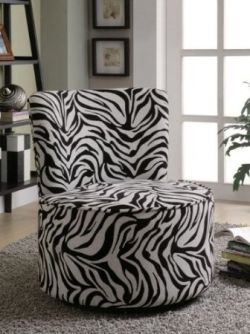 Love this printed Zebra chair.