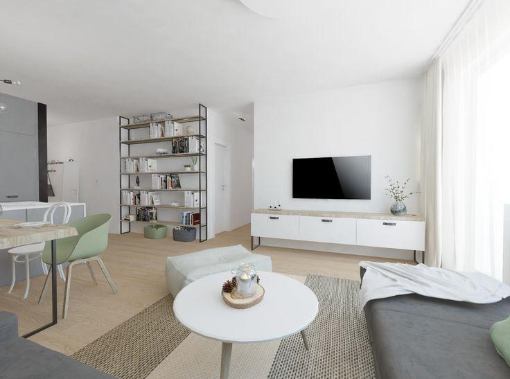 Obývačka vo svetlých tónoch
