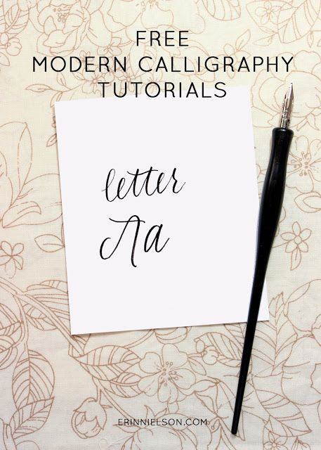 259 best hand lettering images on pinterest brush Calligraphy tutorial