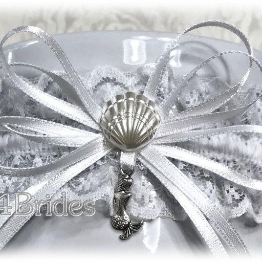Beach Wedding Garter: Mermaid Wedding Bridal Lace Garter, Destination Or Beach