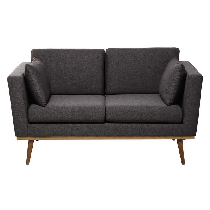 Canapé 2 places en tissu gris Timeo | Maisons du Monde