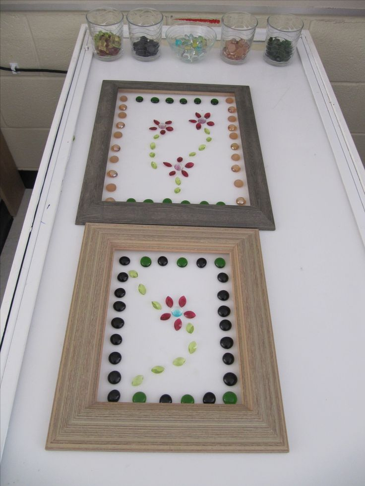 Frames & loose parts on the light table - a different way of creating