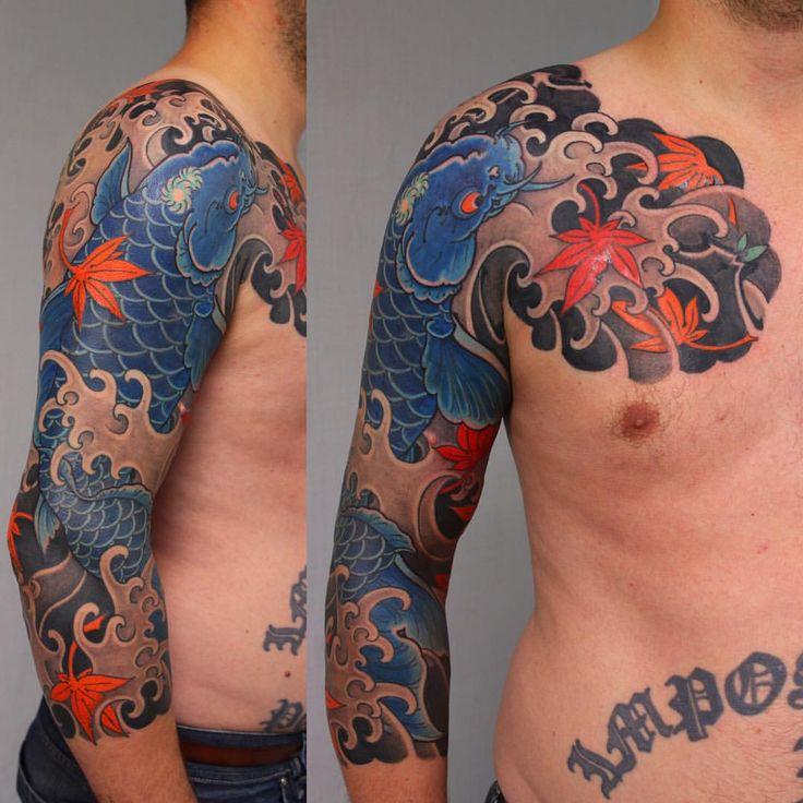 Cover up 12 hours koi tattoo sleeve sleeve tattoos