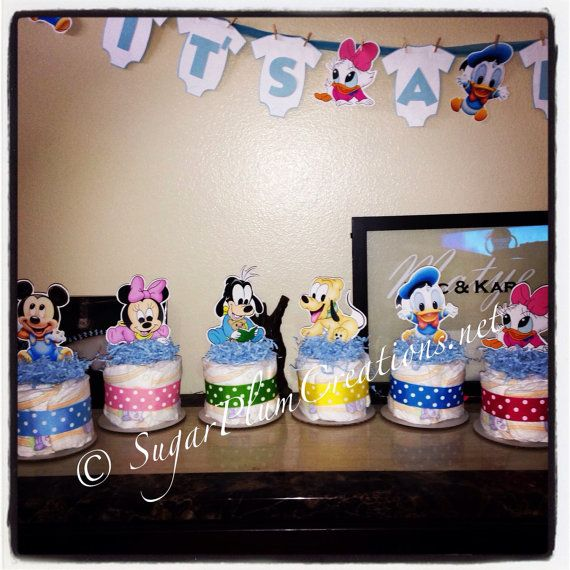 Baby Disney Characters Diaper Cake Mini Baby Disney Diapercake Minis Baby Mickey Mouse