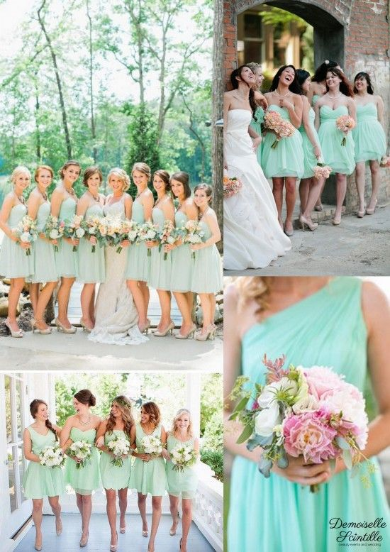 bridesmaid dresses robes de demoiselle d'honneur menthe