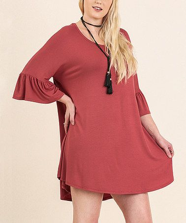 Look what I found on #zulily! Red Clay Scoop Neck Shift Dress - Plus #zulilyfinds