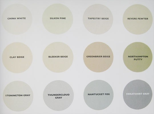 Great design resource---Top neutral paint colors from Thom Filicia