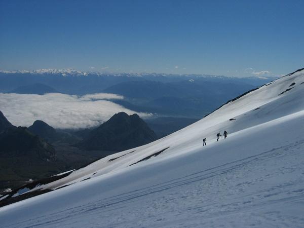 Hiking Villarica (volcano) near Pucon, Chile
