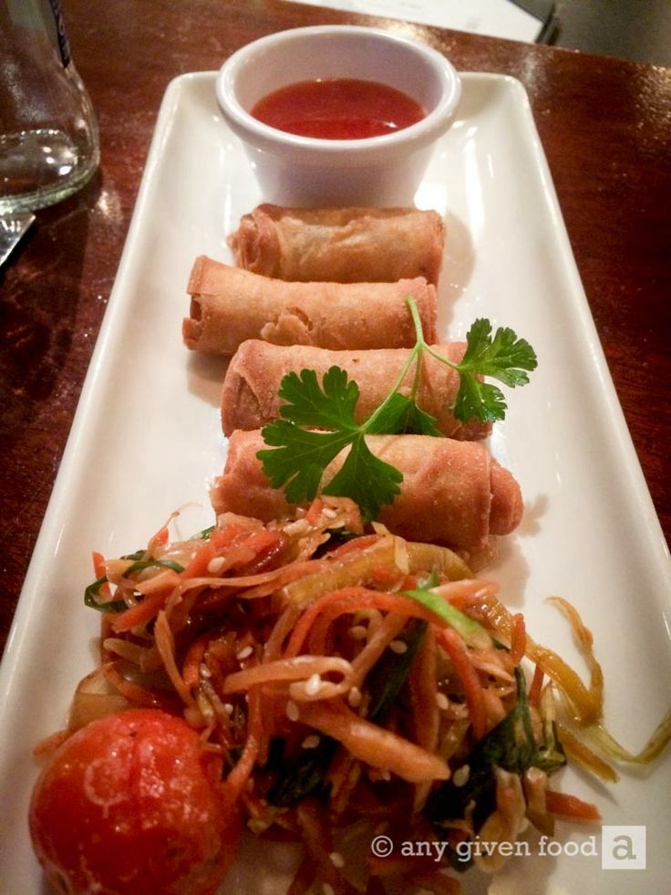 Asian style Spring Rolls at the Springhill Court Hotel, Kilkenny, #Ireland