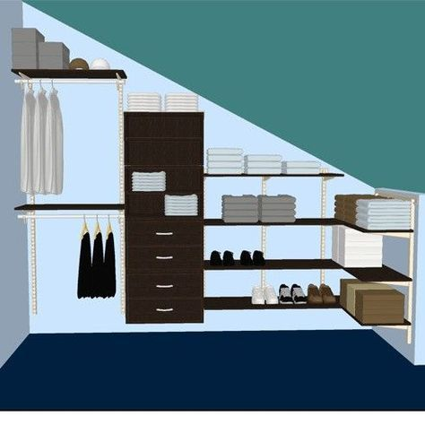 Image result for closet layout with slanted ceiling heights