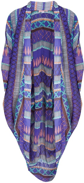 Frida Chiffon Cocoon Kaftan - Lyst    Mara Hoffman's Frida Chiffon Cocoon Kaftan is the ideal poolside throw-over with its eye-catching, tribal-inspired print. Slip this statement kaftan over your favourite swimsuit and stack up some pretty jewellery to get instant beach perfection. Styled with: Roksanda Ilincic swimsuit, Missoni shoes One Size Dry clean only Kaftan: 100% Polyester.