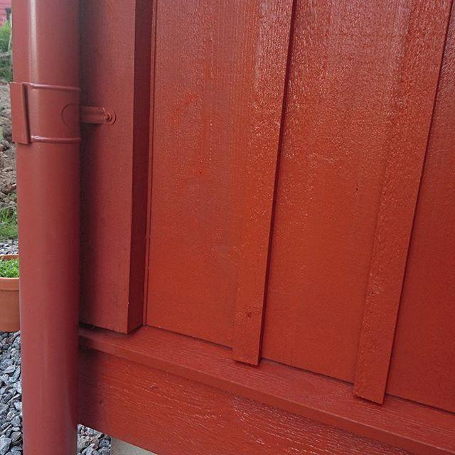 Doften av falurödfärg (ljusröd) och ljudet från grannens gräsklippare är sommar:) Har en skamvrå på huset som inte är helt färdigmålad så det är bara att passa på #husetlugnvik #falurödfärg #falurödfärgljusröd #byggalösvirke #träpanel #sockelbräda