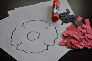 Scrap Paper poppy craft
