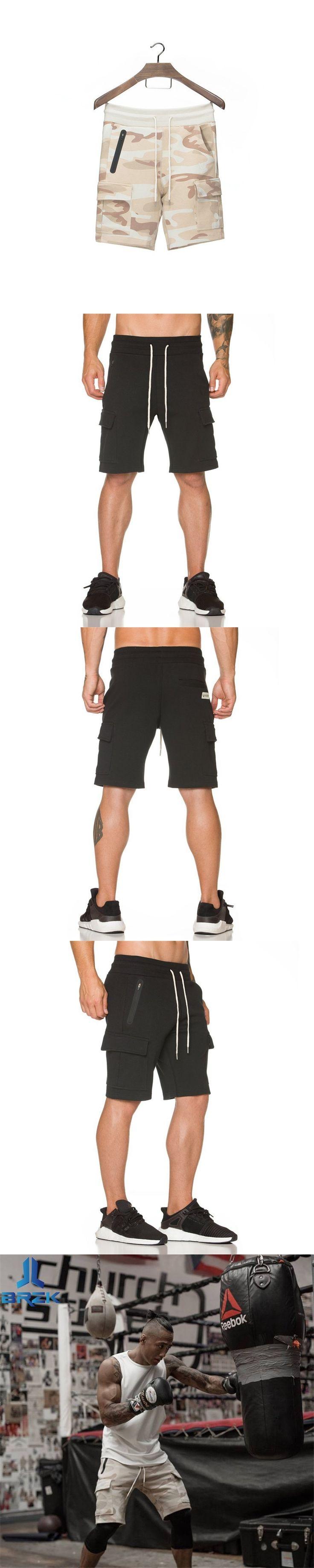 BRZK New Fashion Men Sporting Shorts Trousers Cotton Bodybuilding Sweatpants Fitness Short Jogger Casual Gyms Men Shorts