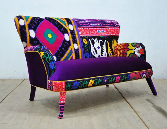 Patchwork Sofa purple love by namedesignstudio on Etsy
