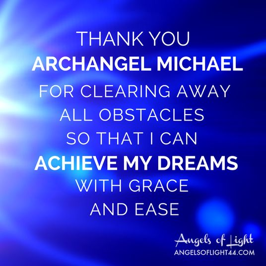 Thank you Archangel Michael for clearing away all obstacles so that i can…