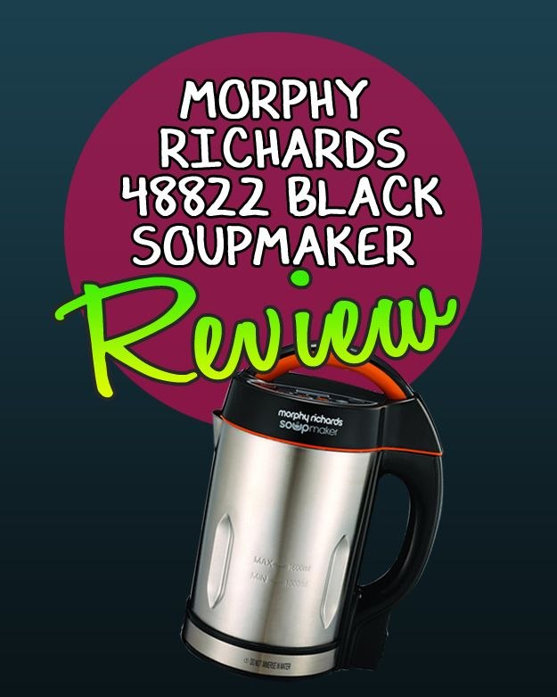 Welcome to my Morphy Richards 48822 Black Soupmaker Review. Expect to be taken into soup maker heaven…..