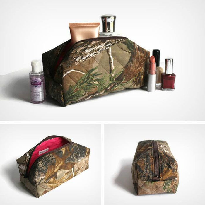 Camo Makeup Bag made with Realtree