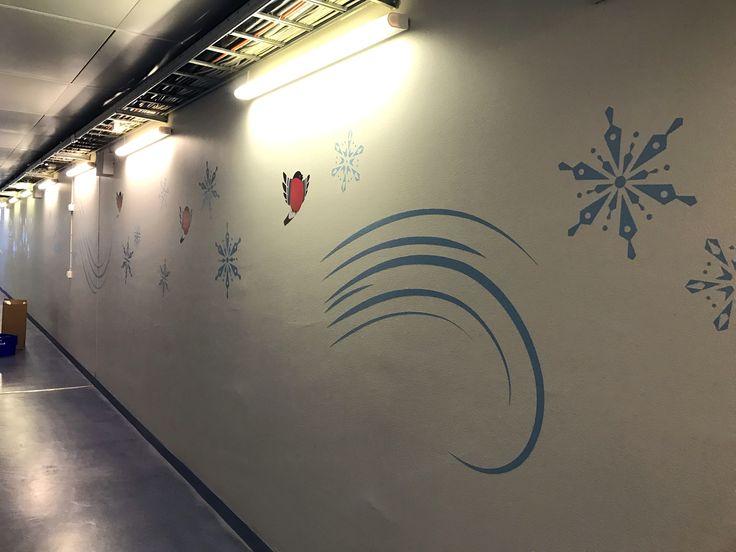 Wall decorations at WTC Helsinki-Vantaa Airport.