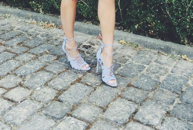 lilac, sandals