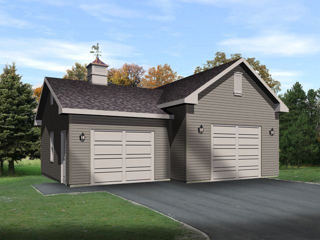 17 best images about car lift or auto lift garage plans on for 2 bay garage plans