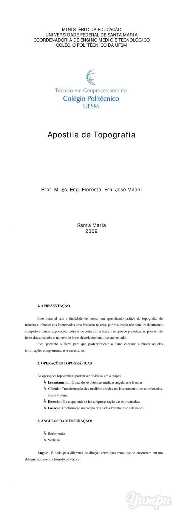 Apostila de Topografia - Colégio Politécnico da UFSM