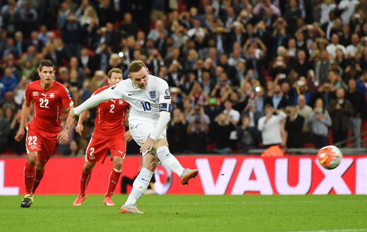 @England Wayne Rooney sets record in eighth straight England win. He converted a penalty for his record-breaking 50th England goal as Roy Hodgson's team made it eight Group E wins from eight #9ine